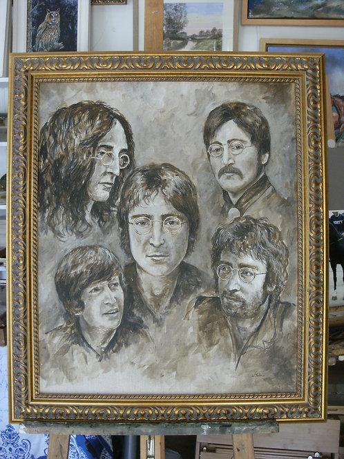 Imagine Five Faces of John Lennon