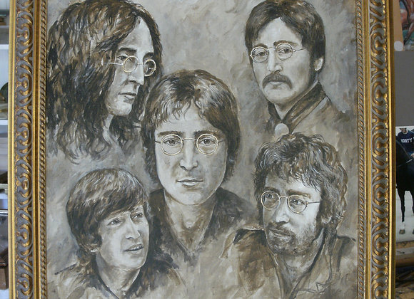 Imagine Five Faces of John Lennon