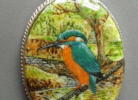 Kingfisher on Porcelain