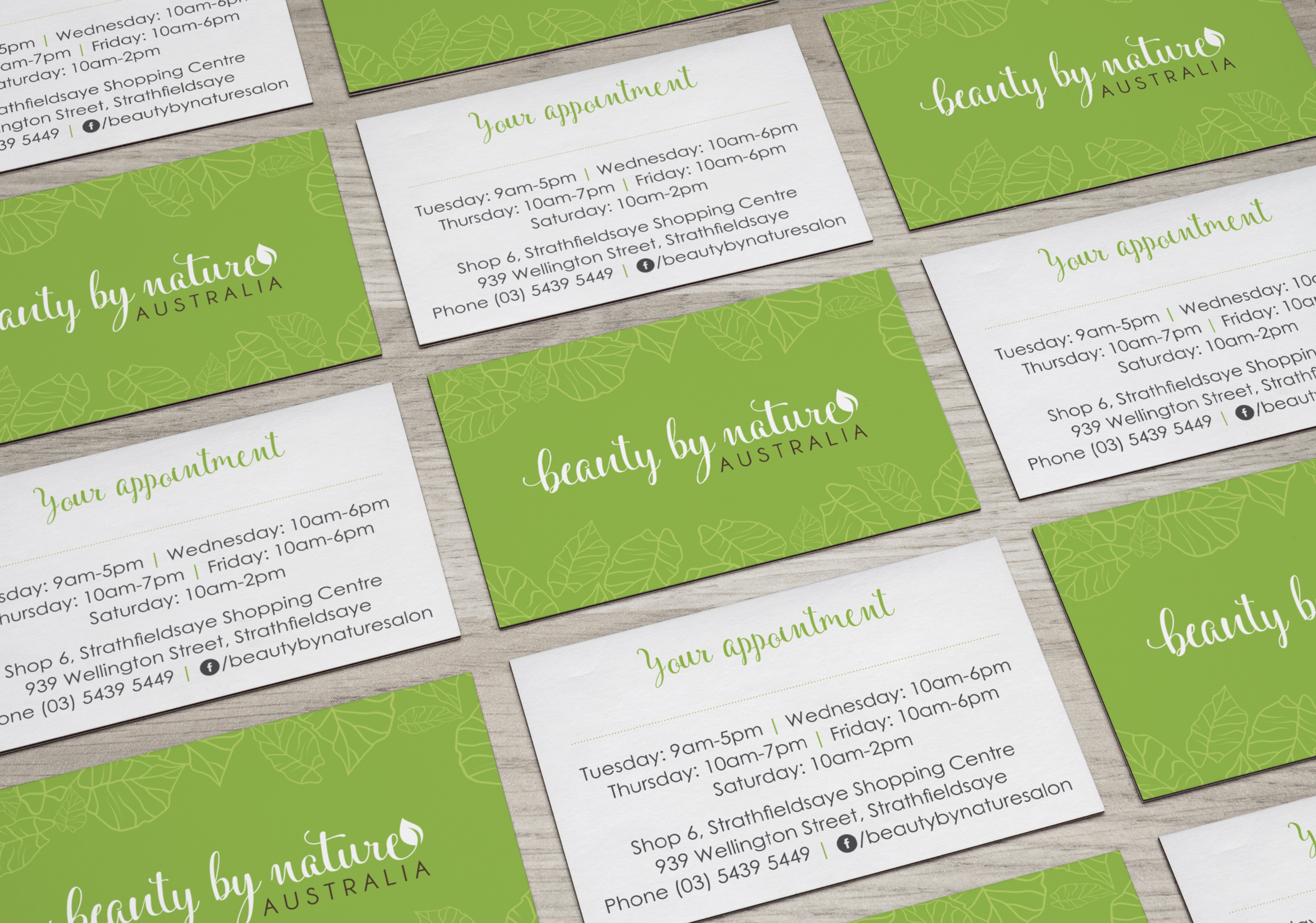 Beauty by Nature business cards