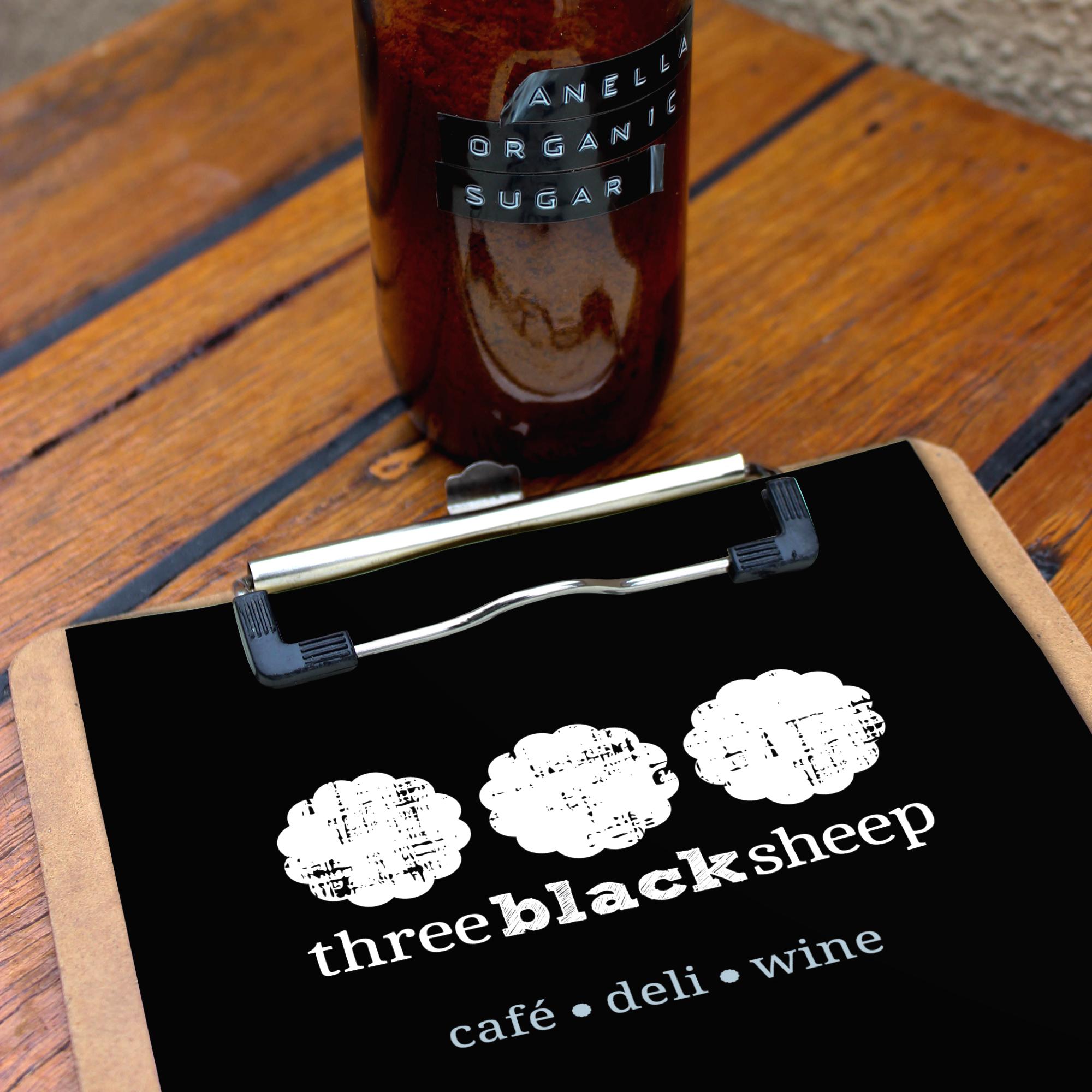 Three Black Sheep menu design