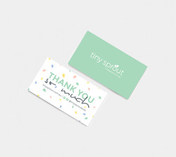 tiny sprout thank you cards