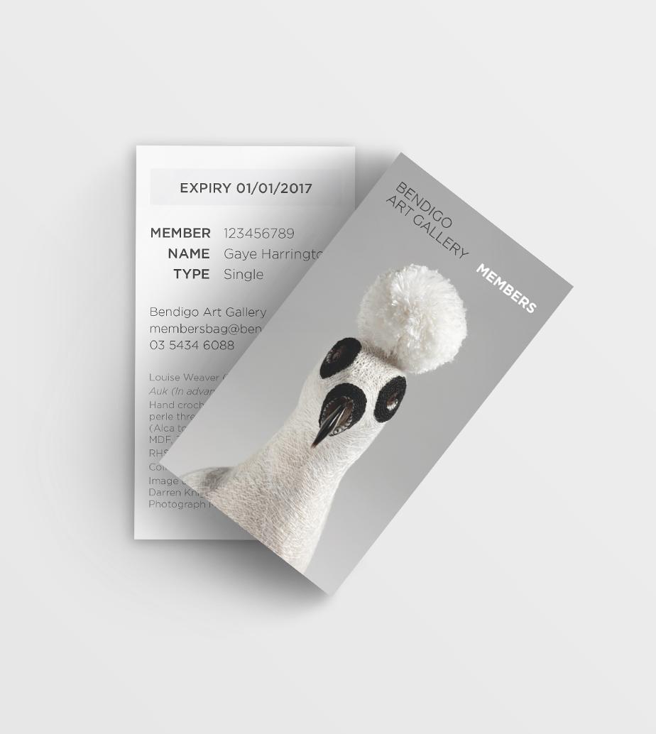 Bendigo Art Gallery members card