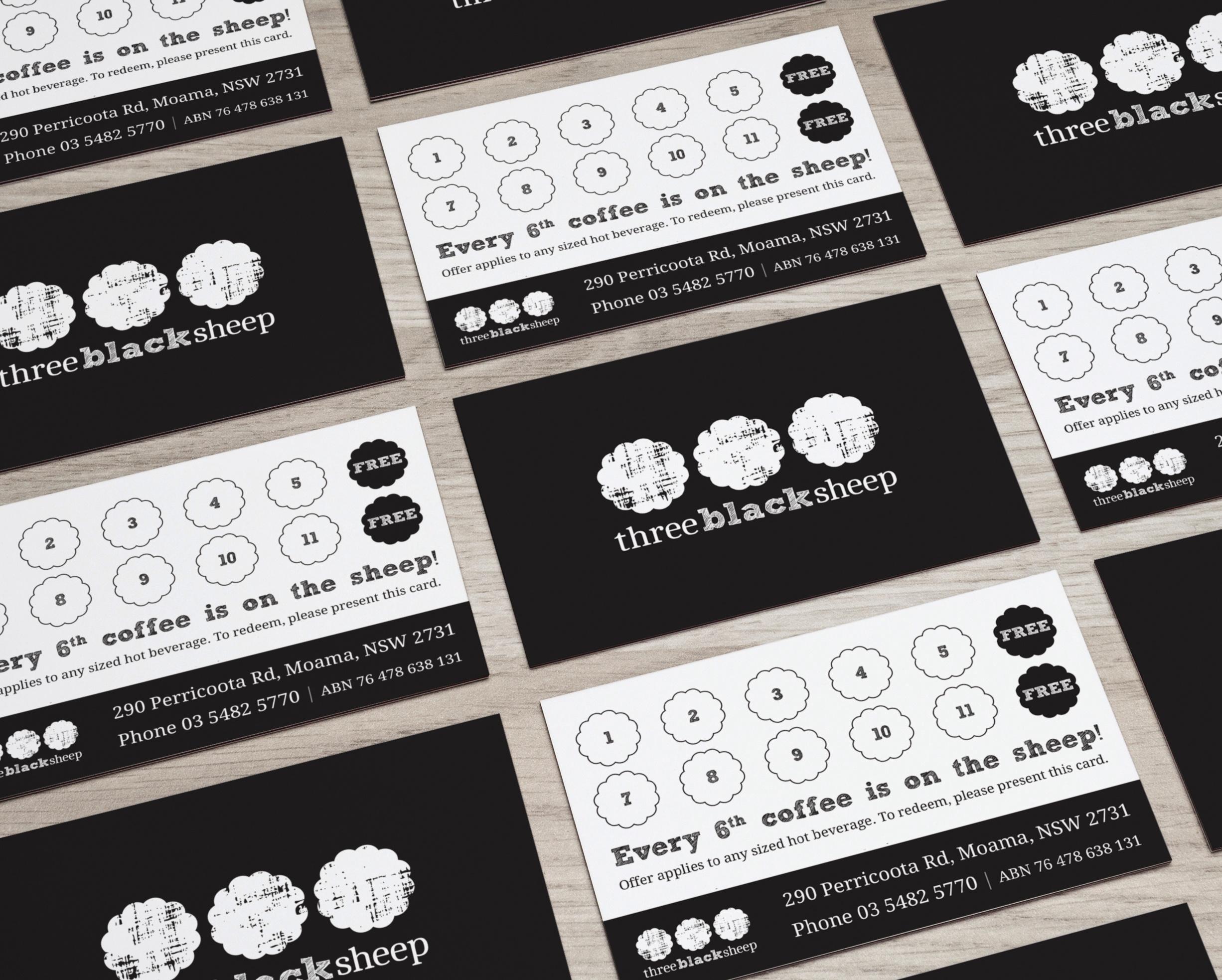 Three Black Sheep business cards