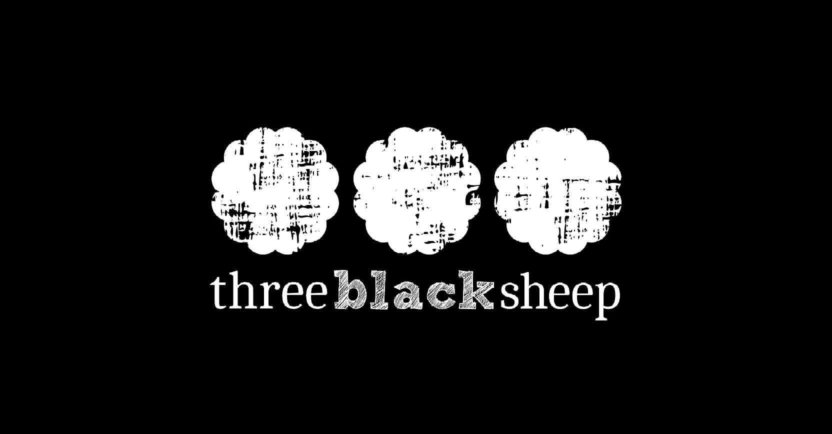 Three Black Sheep logo design