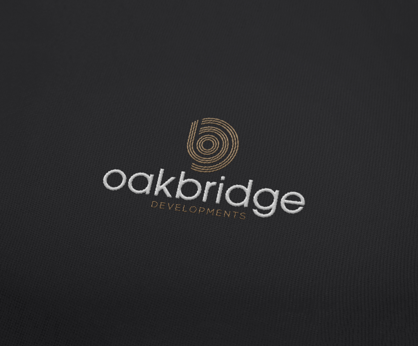 oakbridge logo embroidered