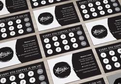 Cafe Allure business cards