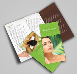 Beauty by nature brochure design