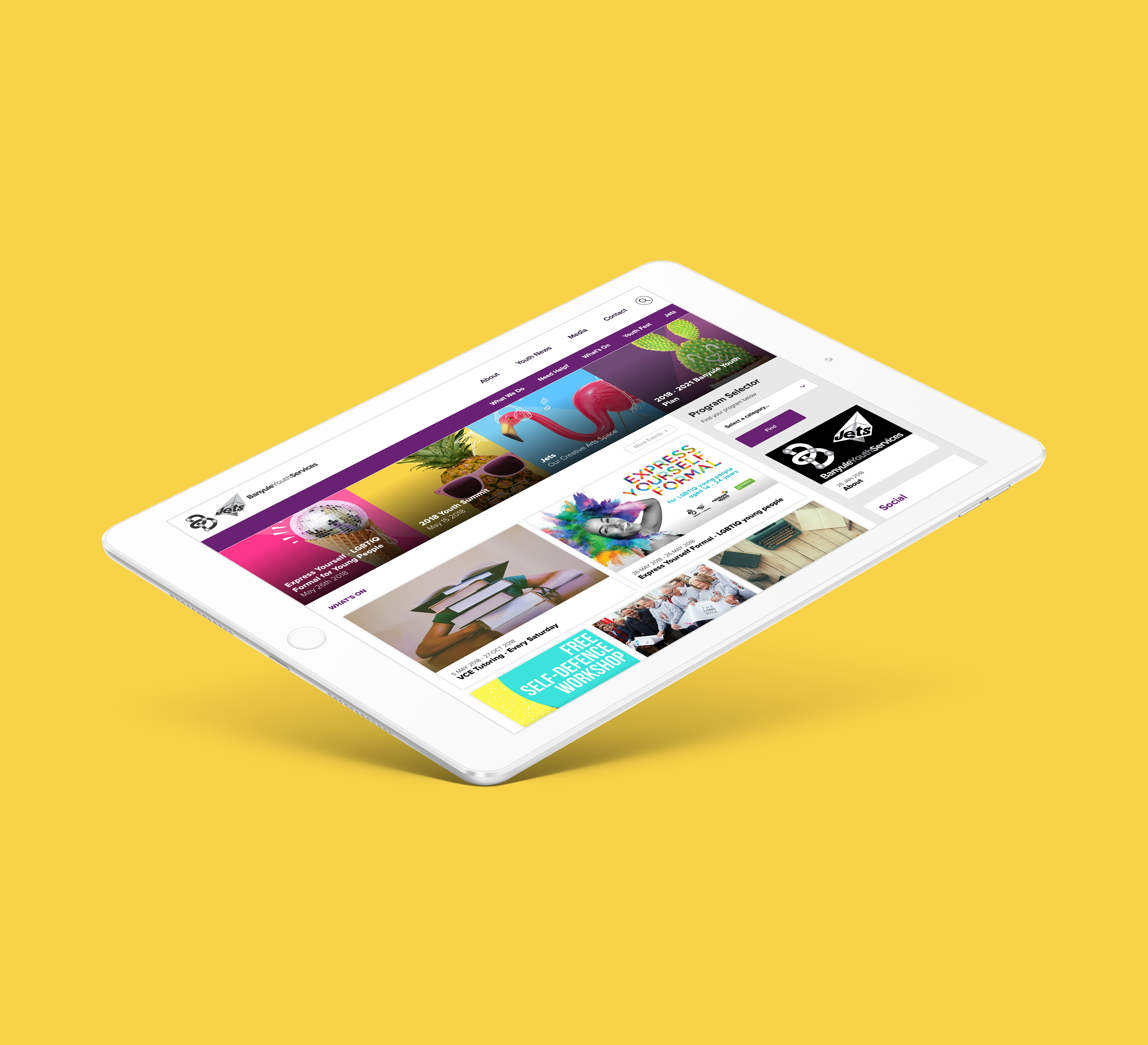 Banyule Youth Services web graphics