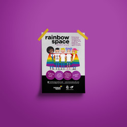 rainbow space flyer
