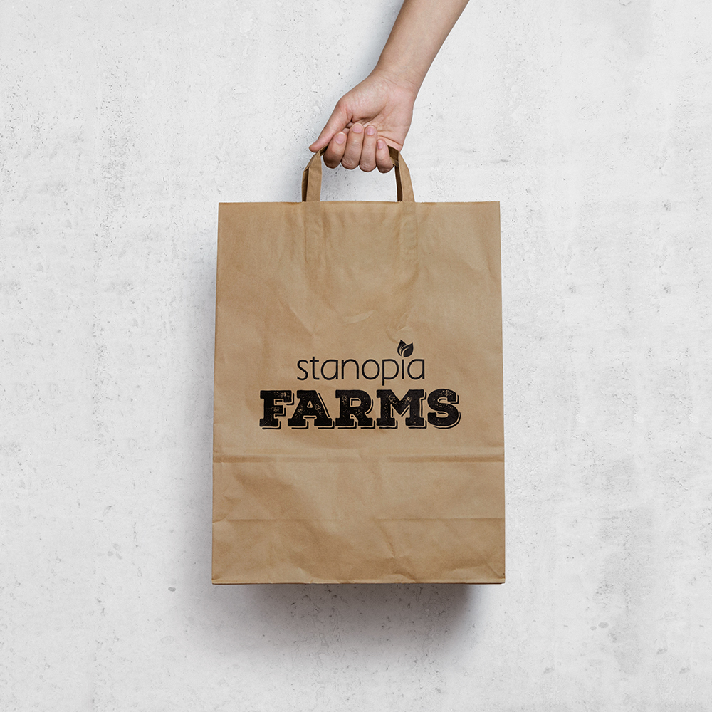 Stanopia Farms branding