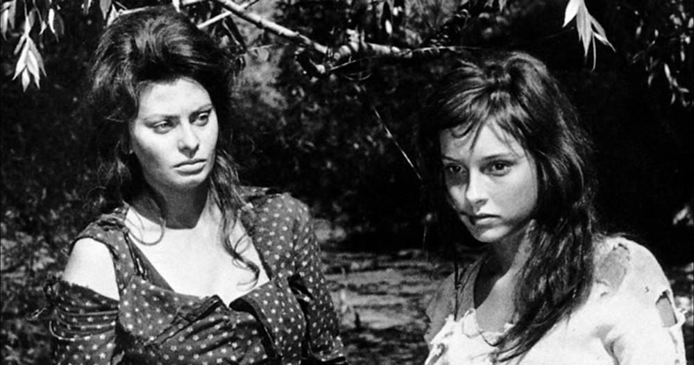 Two women with Sophia Loren