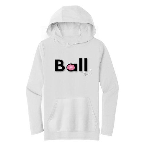 THINK BALL (Hoodie) - White