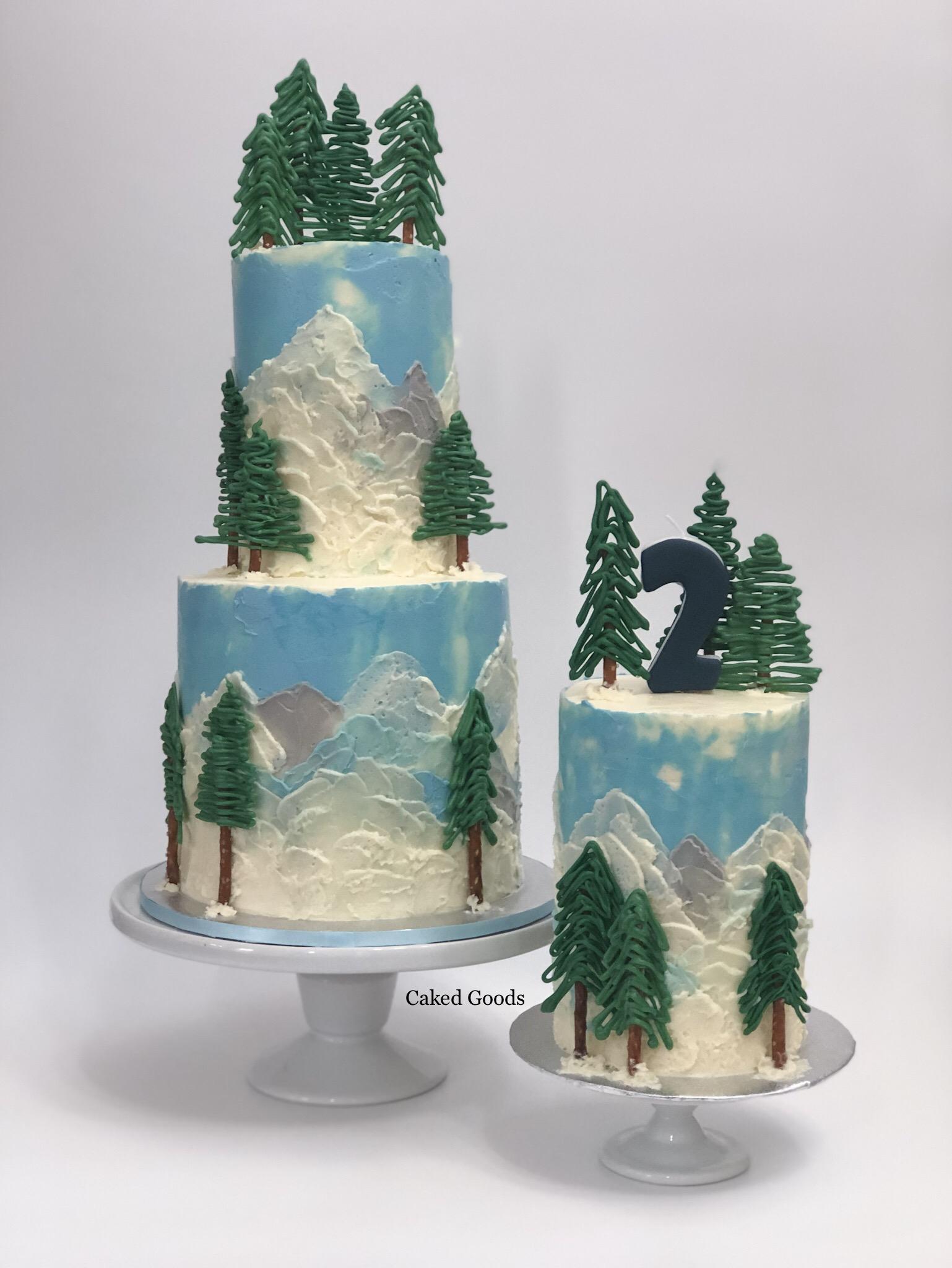 PNW theme cake