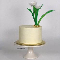 Violet Ikebana style cake