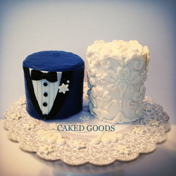 Personal Bride & Groom Cakes