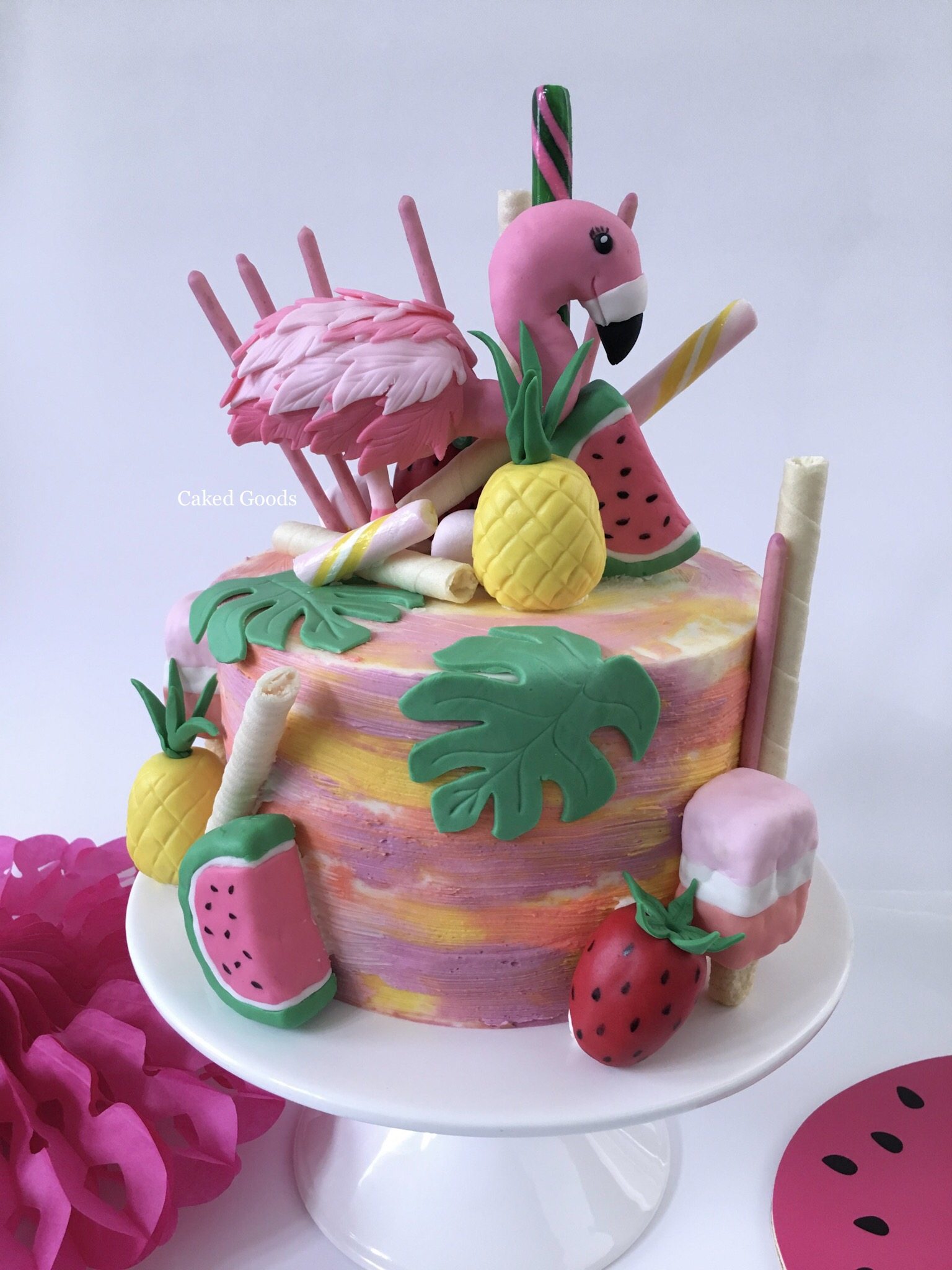 Let's Flamingle Cake