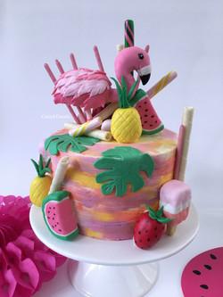 Let's Flamingle Cake