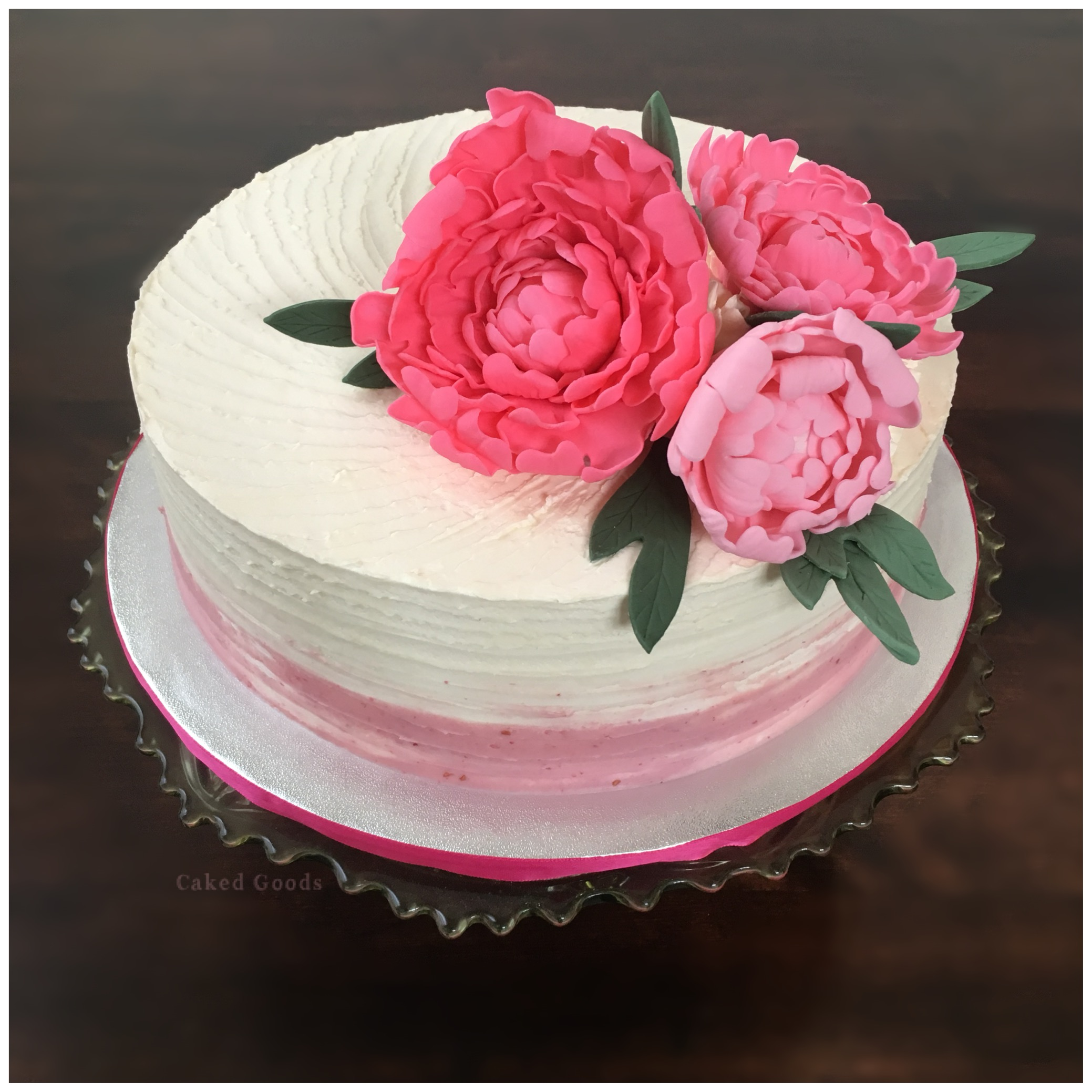 Three Peonies Cake