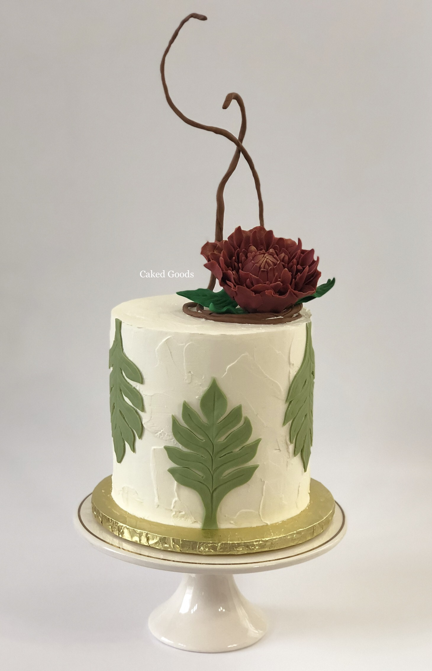 Ikebana Wedding Cake
