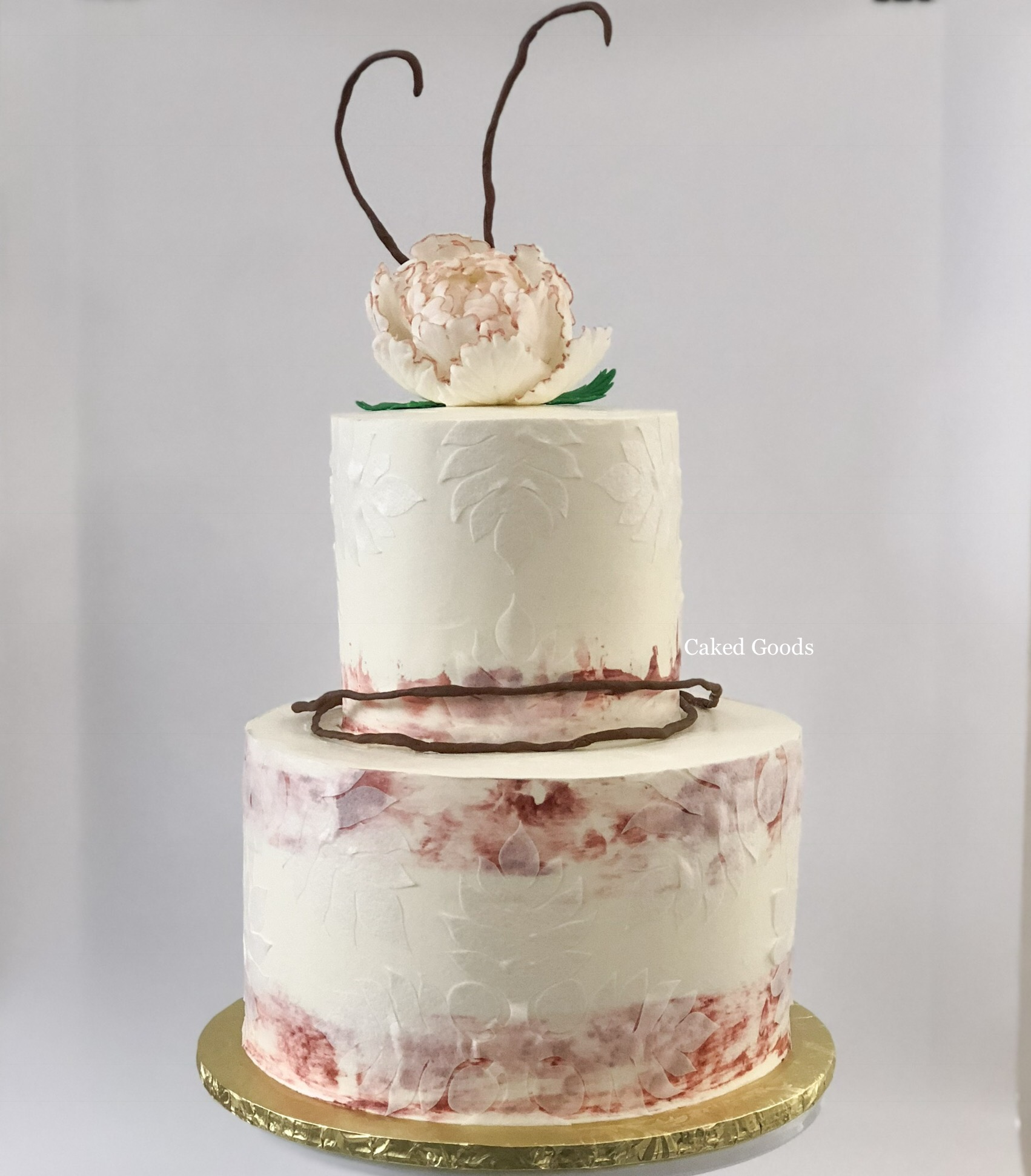 Tropical Ikebana Wedding Cake
