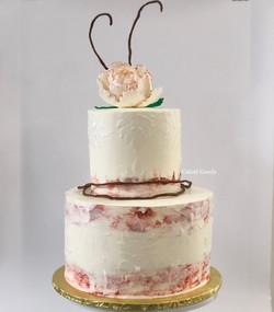 Tropical Ikebana Wedding Cake