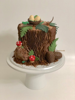Fall Themed Baby Shower Cake