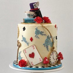 Mad Hatter inspired cake