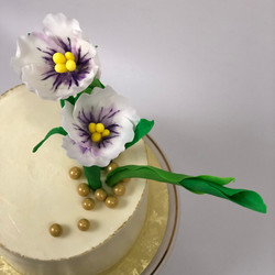 Violet Ikebana Cake