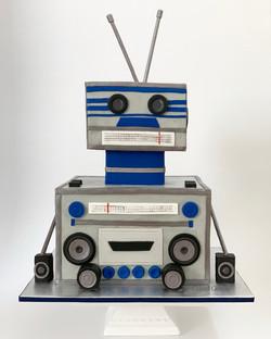 Robot Boombox Cake
