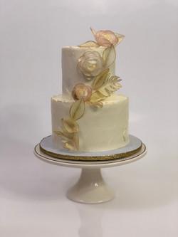Wafer Flower Cake