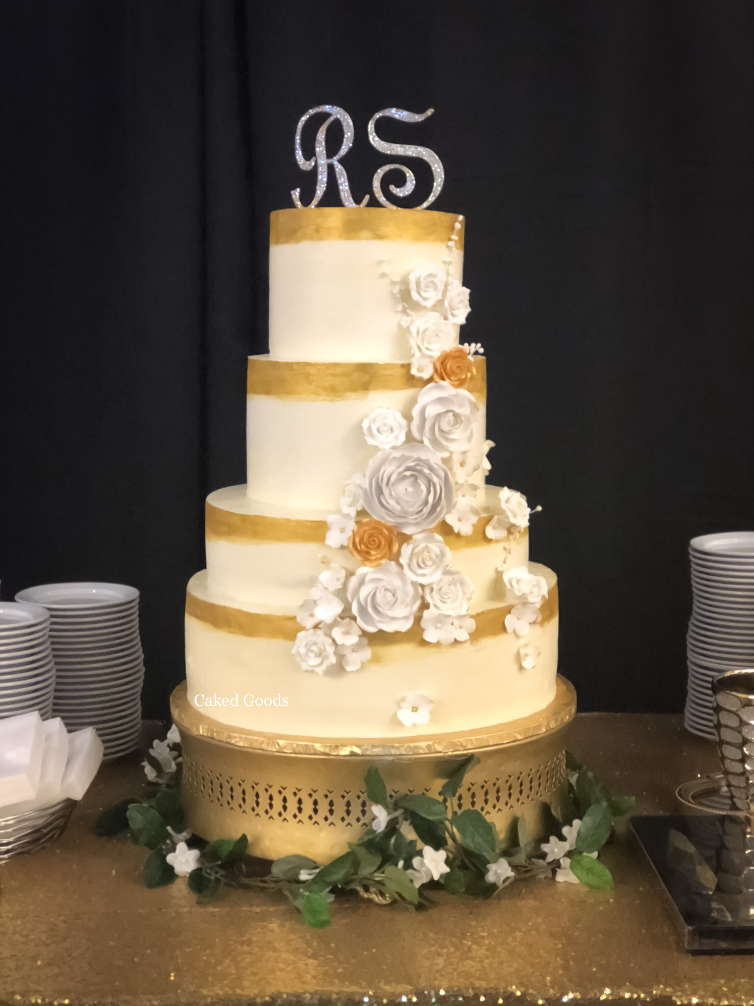 White & Gold Weding