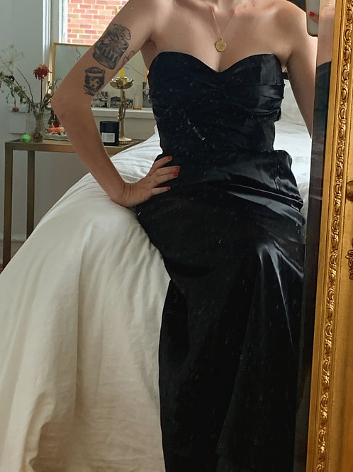 Black Satin Gown