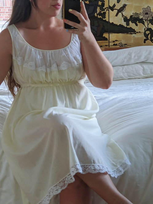 Pale Yellow Nightgown