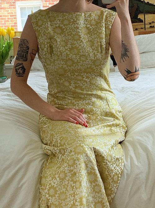 Gold Brocade Sunflower Gown