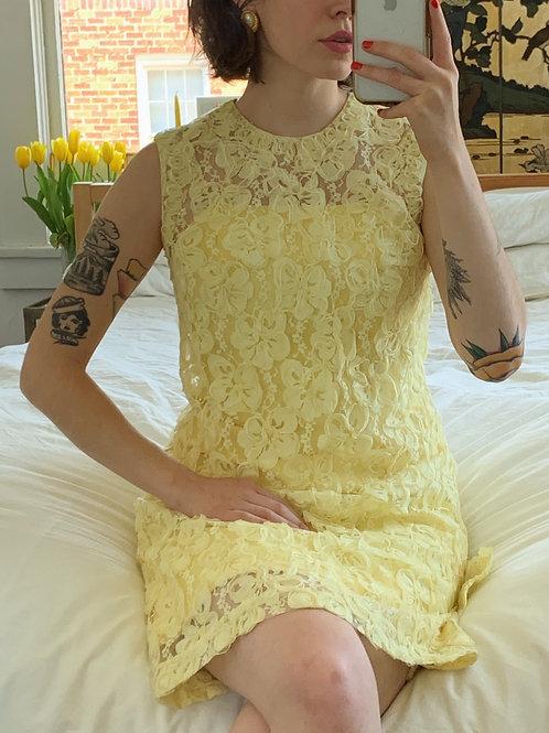 Buttercream Lace Mini Dress