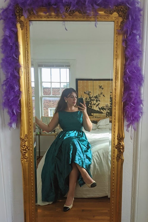 Teal Brocade Gown
