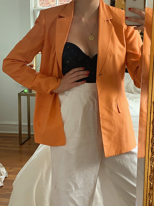 Silk Orange Blazer