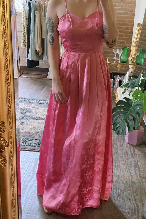 Pink Brocade Gown