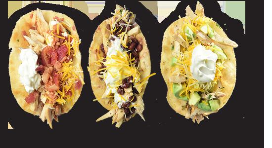 Chicken tacos fro Skillets Restaurants
