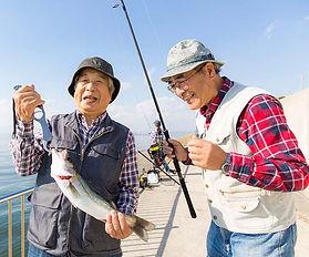 Elderly Japanese fishermen from Blue Zones area