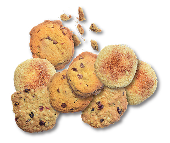 Assortment of delicious home-baked cookies from Skillets