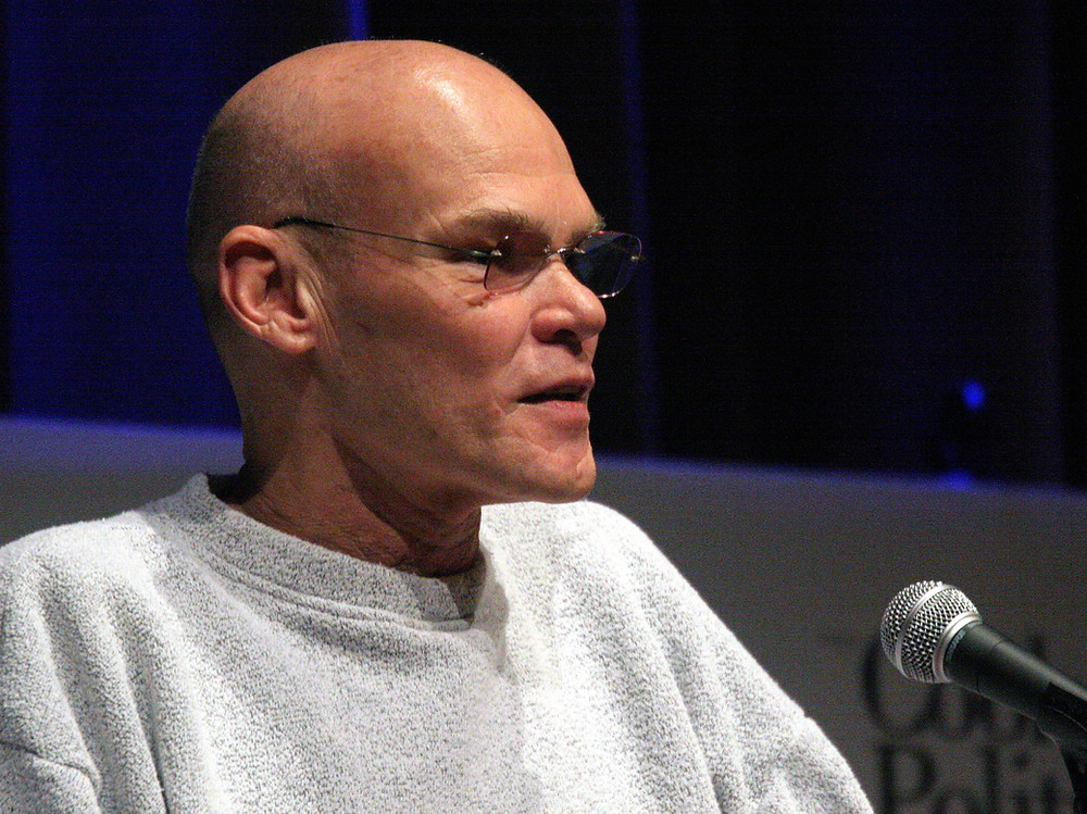 James Carville, in what might be considered lounge-wear. (Photo by Aaron Webb)