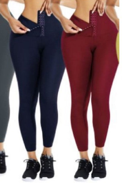 Red, Gray, and Blue Compression legging