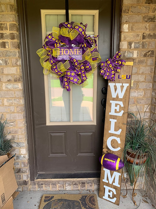 Wreath with Matching Welcome Sign