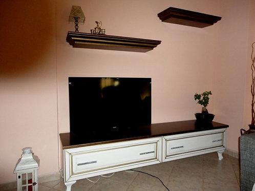Έπιπλο TV νεοκλασσικό με ράφια