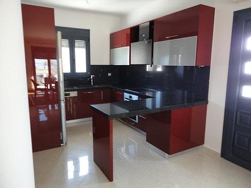 """Κουζίνα """"Dark Red"""""""