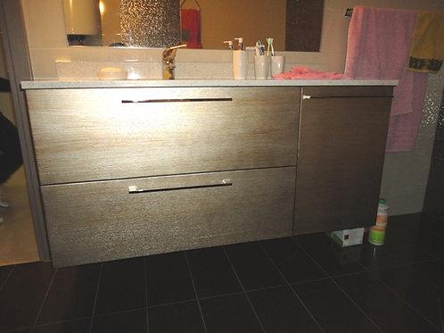 Έπιπλο μπάνιου  δρυς πατίνα