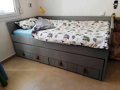 """Διπλό παιδικό κρεβάτι """"Vintage grey"""""""