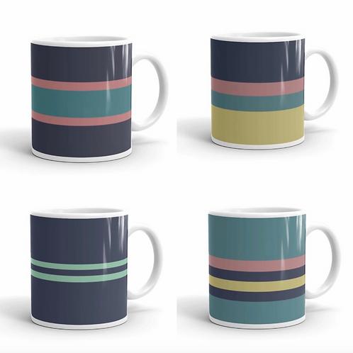 Devon Series (Set of 4 Coastal Mugs)